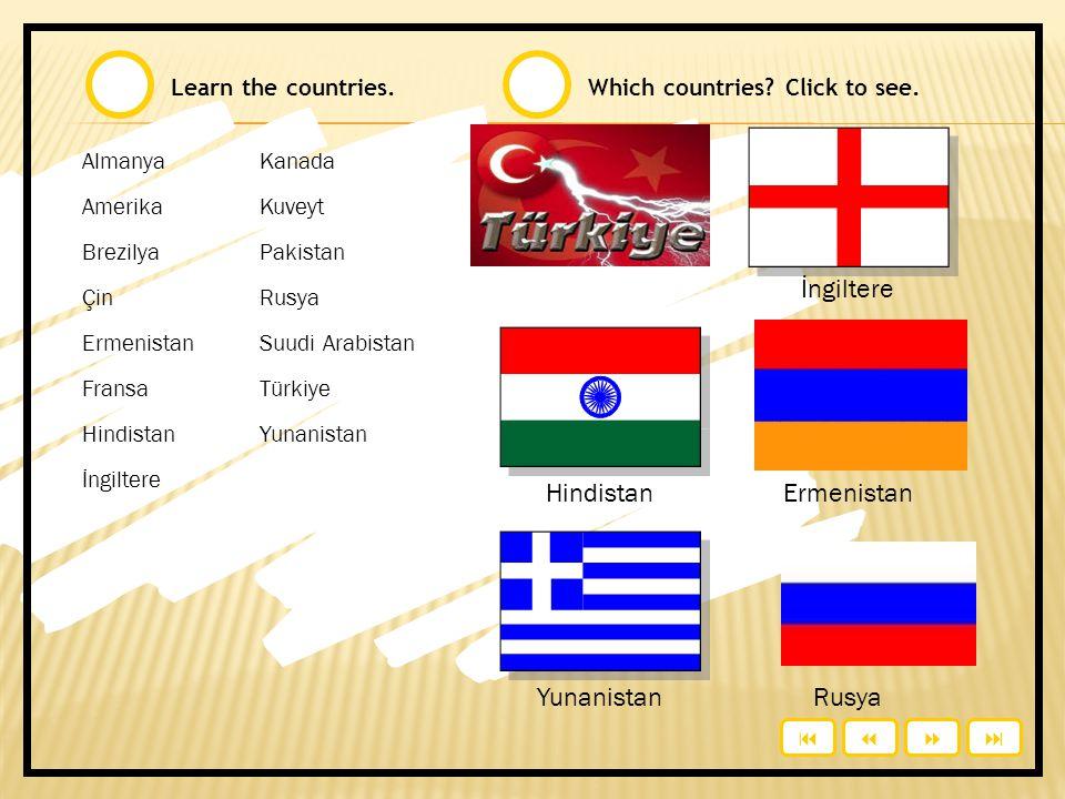 Onlar nereli? / where are they from? Countries ● Nationalities  talebe U3