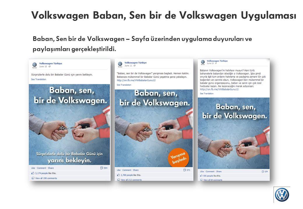 Volkswagen Baban, Sen bir de Volkswagen Uygulaması Baban, Sen bir de Volkswagen – Katılımcılar babaları ve Volkswagen ile ilgili anılarını uygulamada paylaştılar.