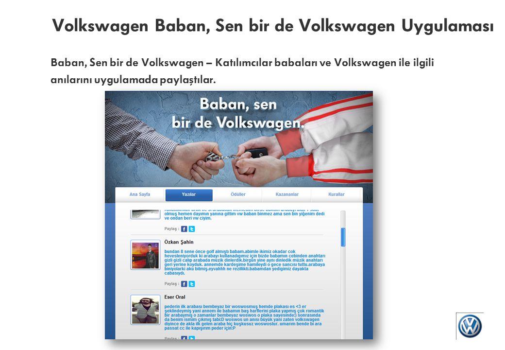 Volkswagen Baban, Sen bir de Volkswagen Uygulaması Baban, Sen bir de Volkswagen – Kullanıcılar uygulamayı profillerinde paylaştılar.