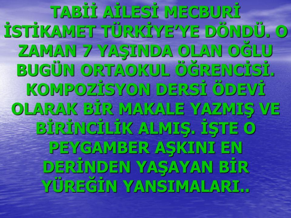 ÇARŞAMBA GÜNLERİ HEP UHUD'A GİDERDİK.