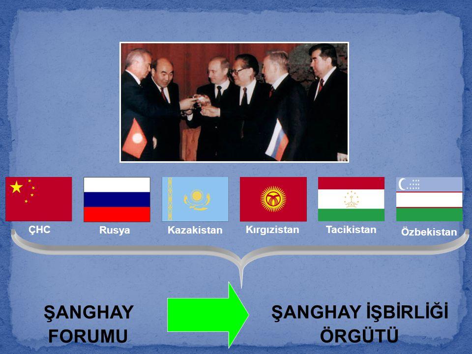 ŞANGHAY FORUMU ŞANGHAY İŞBİRLİĞİ ÖRGÜTÜ ÇHC RusyaKazakistan KırgızistanTacikistan Özbekistan