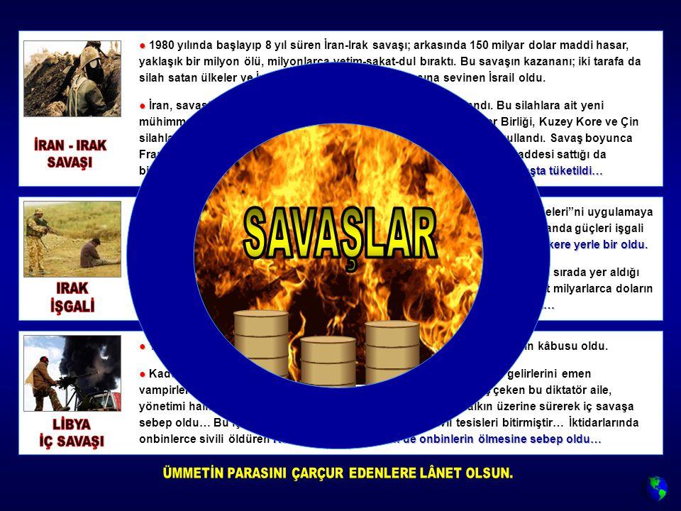● ● 1969'da darbe ile yönetimi ele geçiren Kaddafi, tam 42 yıl Libya halkının kâbusu oldu.
