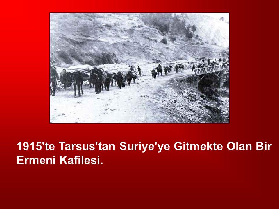 1915'te Tarsus'tan Suriye'ye Gitmekte Olan Bir Ermeni Kafilesi.