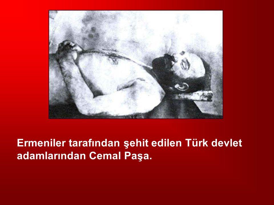 Ermeniler tarafından şehit edilen Türk devlet adamlarından Cemal Paşa.