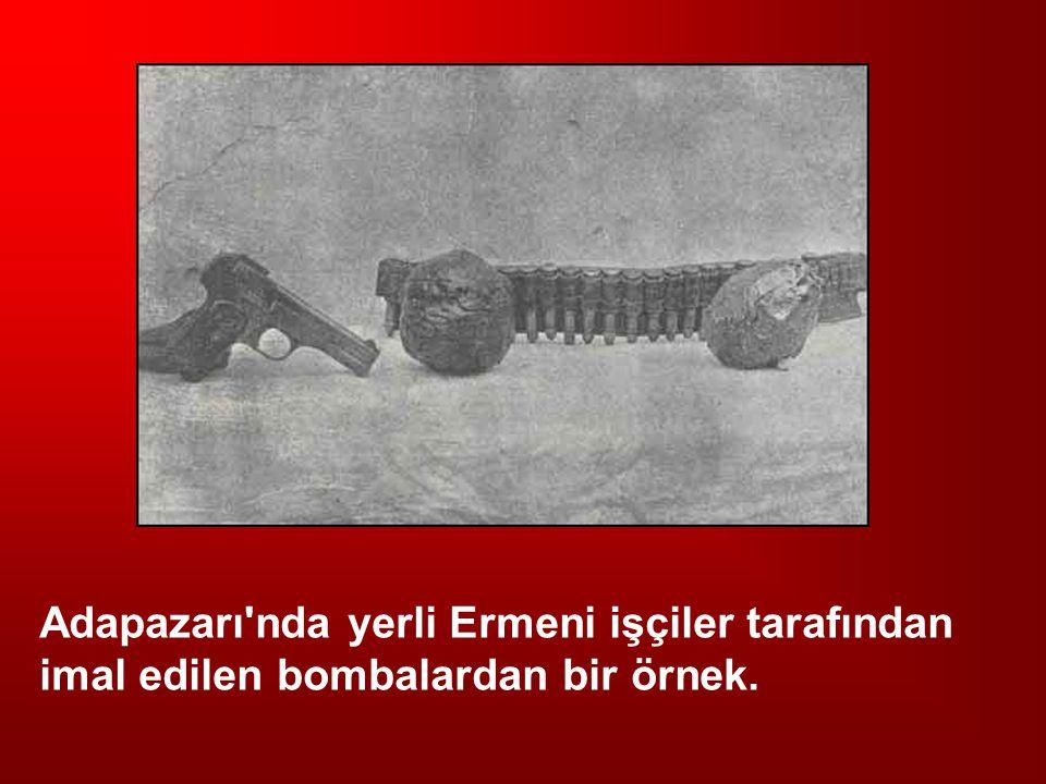 Adapazarı'nda yerli Ermeni işçiler tarafından imal edilen bombalardan bir örnek.