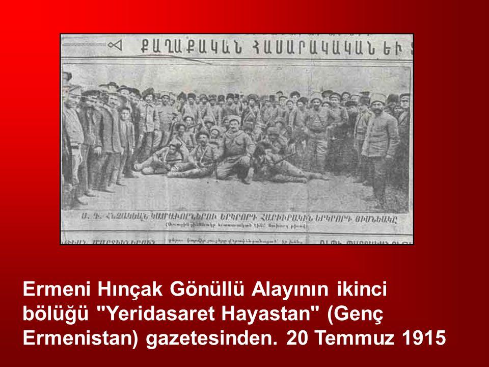 Ermeni Hınçak Gönüllü Alayının ikinci bölüğü