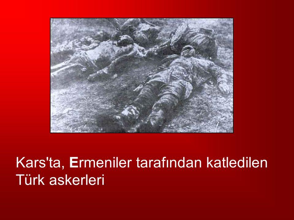 Kars'ta, Ermeniler tarafından katledilen Türk askerleri.