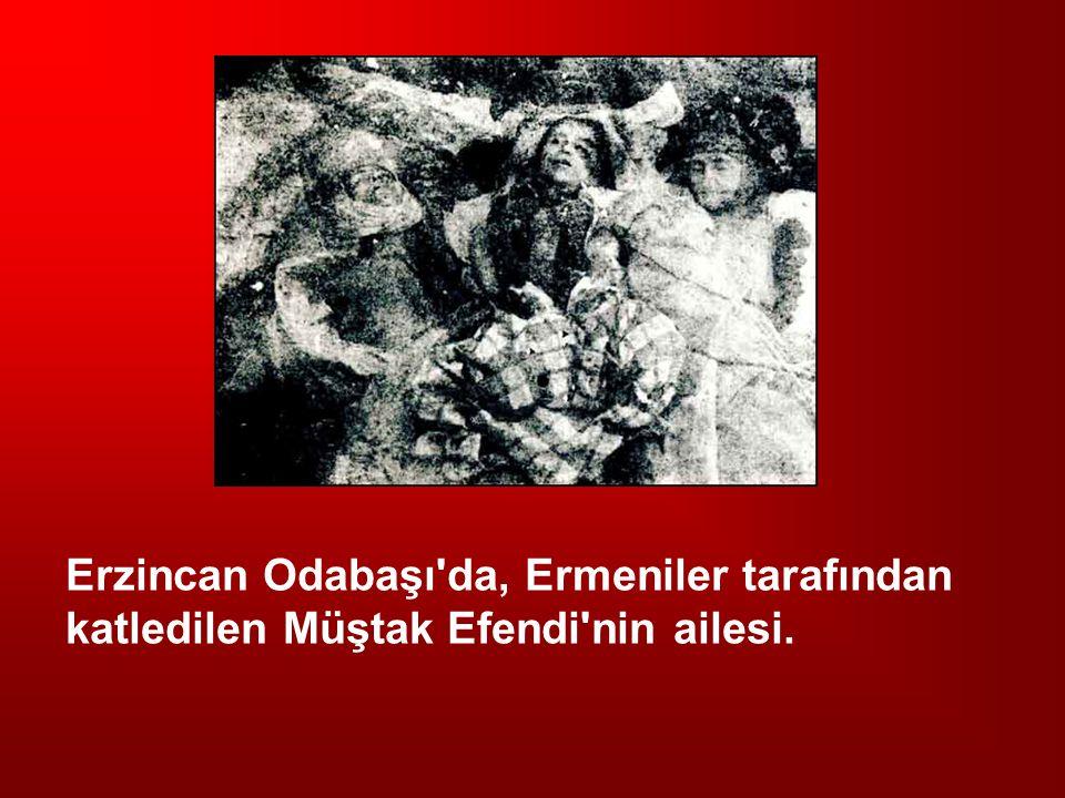 Erzincan Odabaşı'da, Ermeniler tarafından katledilen Müştak Efendi'nin ailesi.