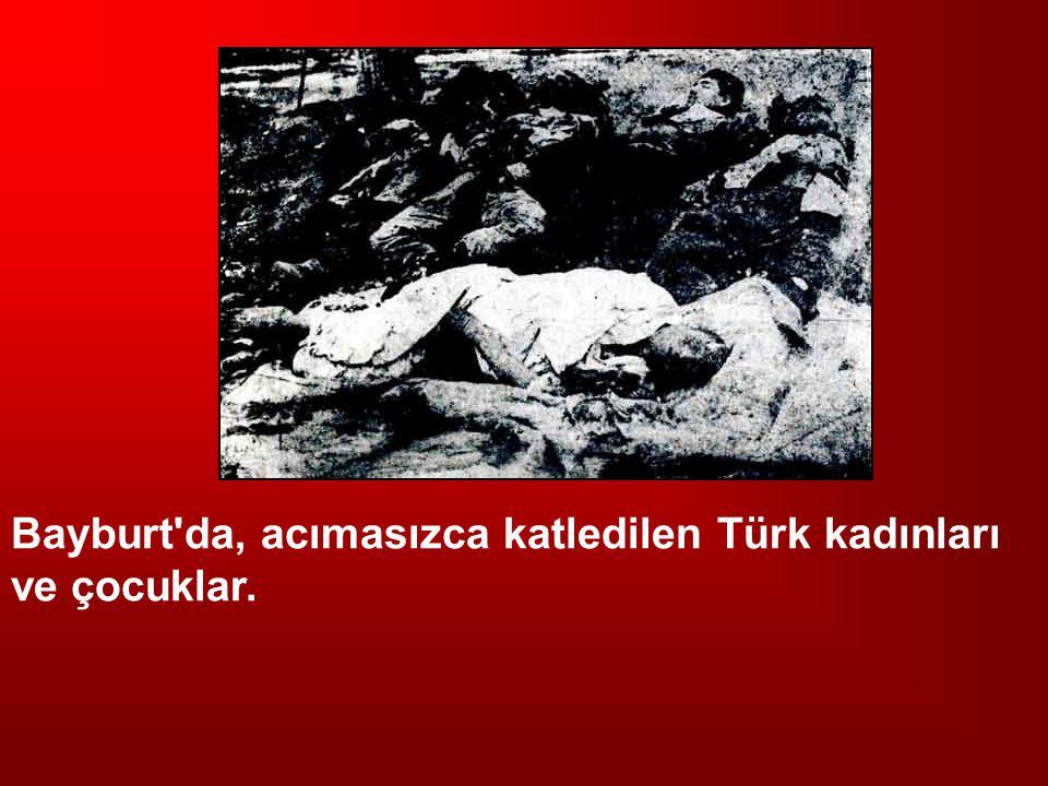 Bayburt'da, acımasızca katledilen Türk kadınları ve çocuklar.