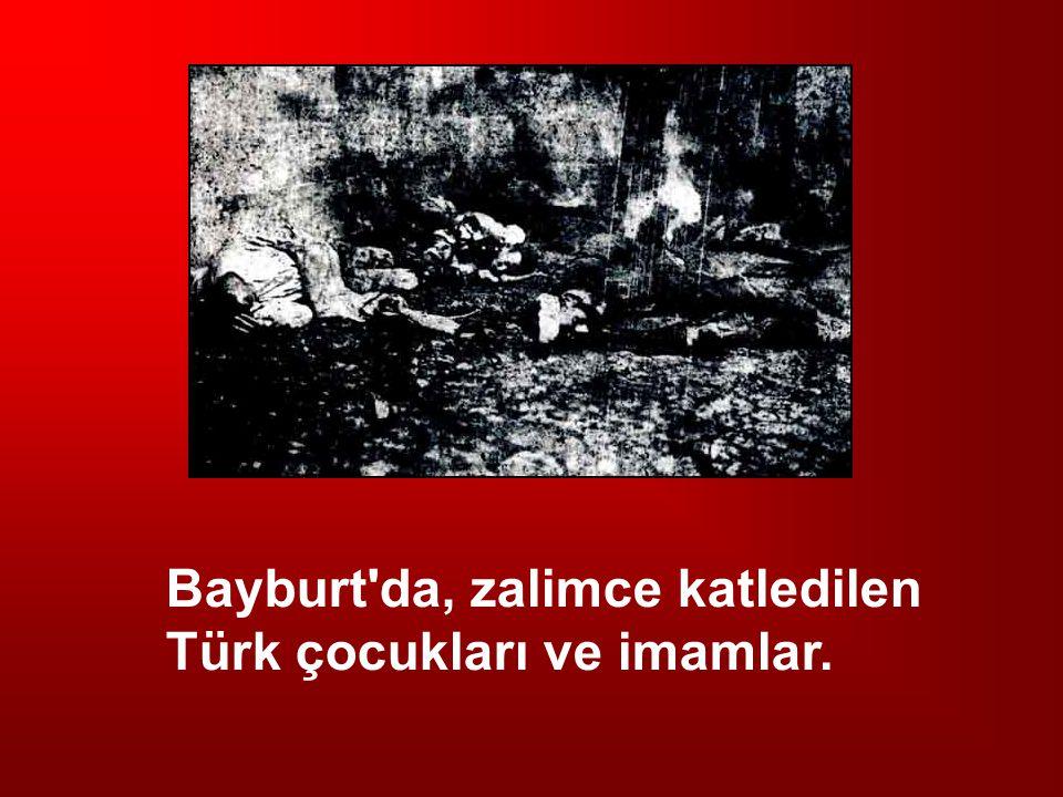 Bayburt'da, zalimce katledilen Türk çocukları ve imamlar.