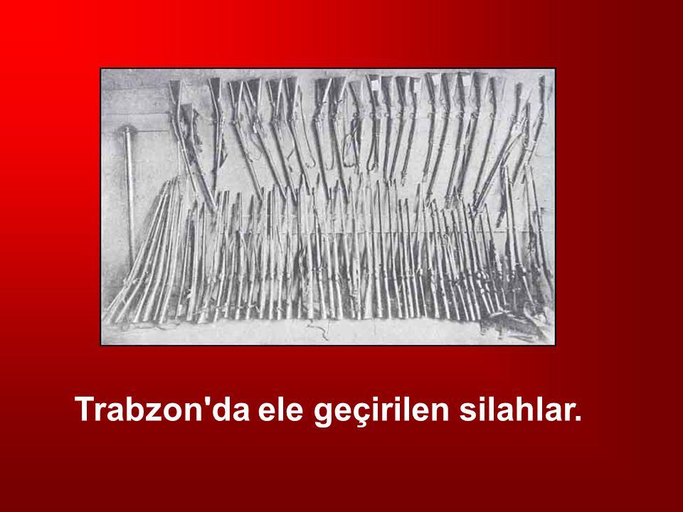 Trabzon'da ele geçirilen silahlar.