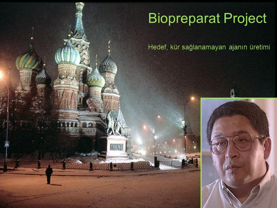 Biopreparat Project Hedef, kür sağlanamayan ajanın üretimi