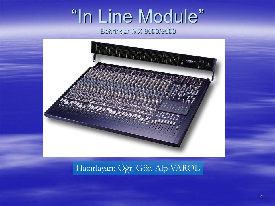 1 In Line Module Behringer MX 8000/9000 Hazırlayan: Öğr. Gör. Alp VAROL