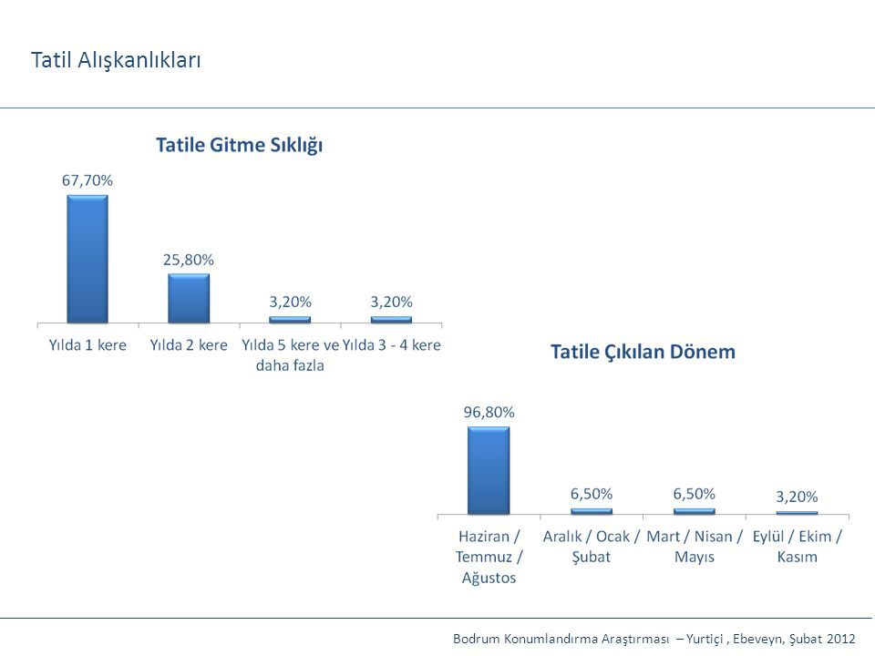 Tatil Alışkanlıkları Bodrum Konumlandırma Araştırması – Yurtiçi, Ebeveyn, Şubat 2012