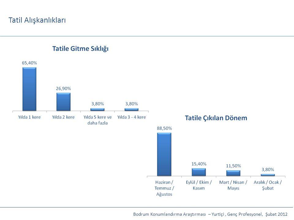 Tatil Alışkanlıkları Bodrum Konumlandırma Araştırması – Yurtiçi, Genç Profesyonel, Şubat 2012