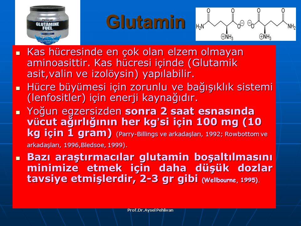 Prof.Dr.Aysel Pehlivan Glutamin Kas h ü cresinde en ç ok olan elzem olmayan aminoasittir.