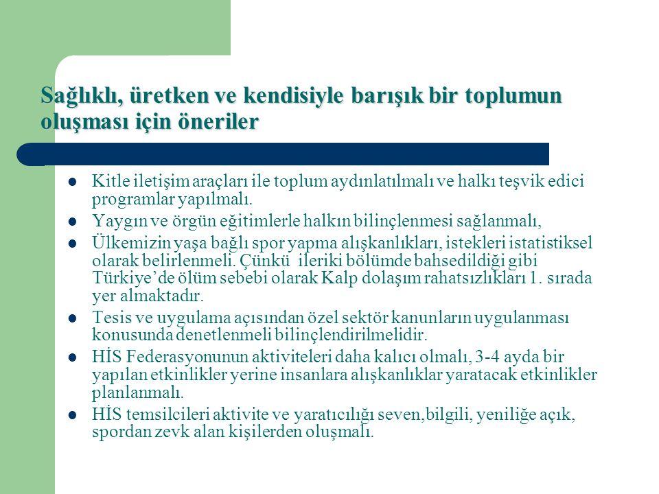 Sonuç olarak Türkiye'de Herkes İçin Spor felsefesi kanunlarla iyi irdelenmiş olmasına rağmen, uygulayıcılar tarafından istenilen seviyeye getirilemedi