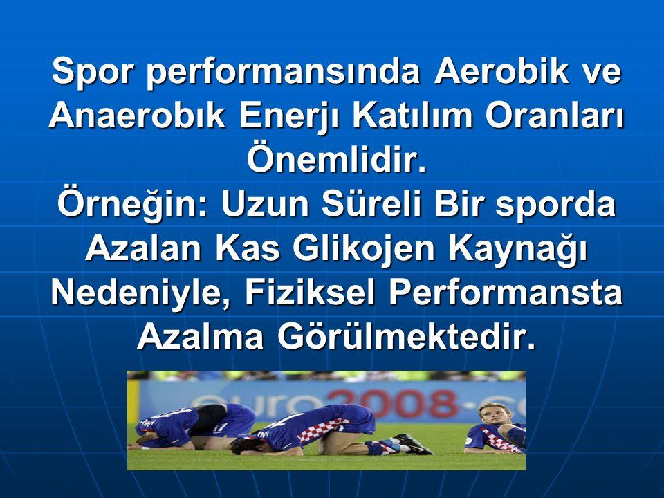 Prof.Dr.Aysel Pehlivan Spor performansında Aerobik ve Anaerobık Enerjı Katılım Oranları Önemlidir.