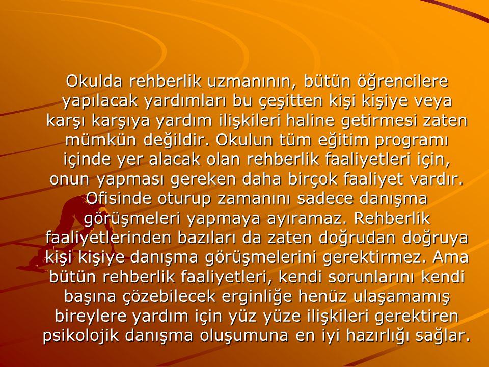 Şekil 1. Psikolojik Danışma ve Rehberlik İlişkisi Şekil 1. Psikolojik Danışma ve Rehberlik İlişkisi