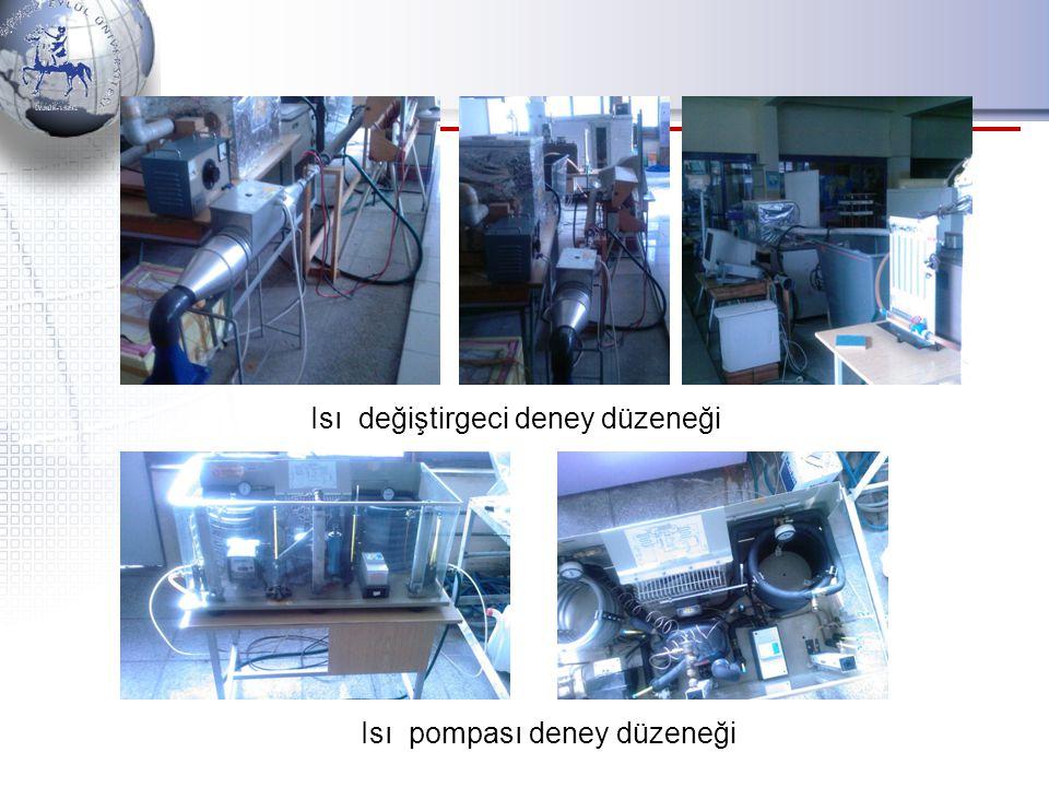 Isı değiştirgeci deney düzeneği Isı pompası deney düzeneği