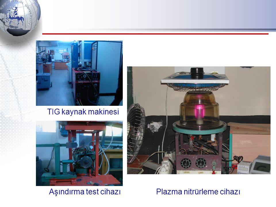 TIG kaynak makinesi Aşındırma test cihazı Plazma nitrürleme cihazı