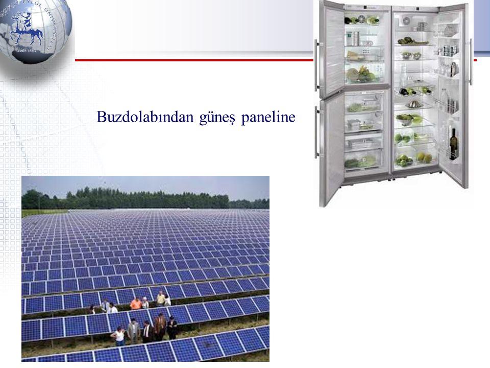 Buzdolabından güneş paneline