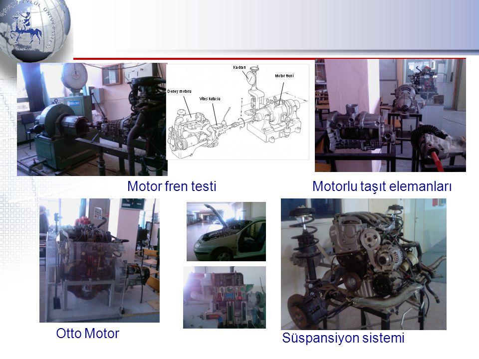 Motor fren testi Otto Motor Motorlu taşıt elemanları Süspansiyon sistemi