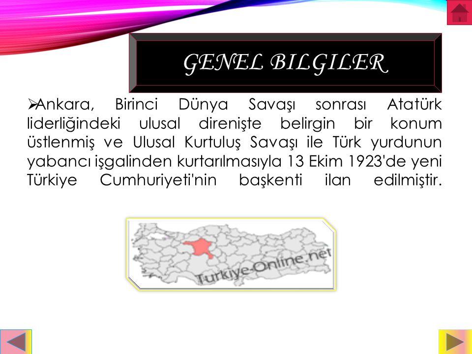 İÇINDEKİLER Genel bilgiler Tarihi Gezilecek Yerler Yenilecek yemekler Bugün sizlere Ankara'nın meşhur yerlerini,yemeklerini ve tarihini anlatacağım iy