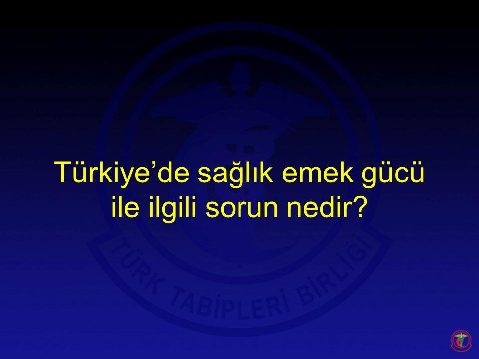 Türkiye'de sağlık emek gücü ile ilgili sorun nedir?