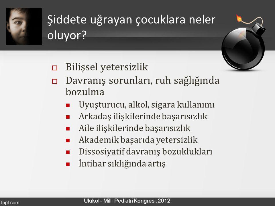 ŞİDDETE TANIK OLMAK… Ulukol - Milli Pediatri Kongresi, 2012