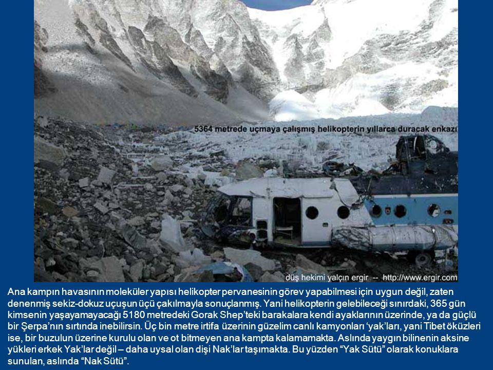 5364 metredeki ana kamp, Ağrı Dağı'ndan da, dünyanın yedi kıtasındaki en yüksek zirvelerin kiminden de daha yüksekte.