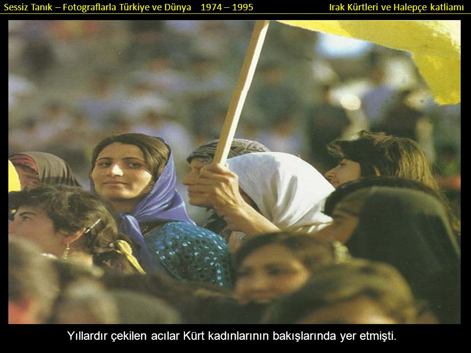 Yıllardır çekilen acılar Kürt kadınlarının bakışlarında yer etmişti.