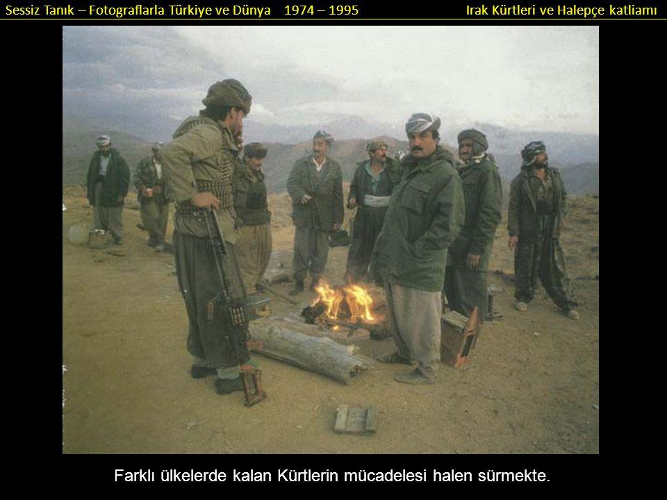 Sessiz Tanık – Fotograflarla Türkiye ve Dünya 1974 – 1995 Irak Kürtleri ve Halepçe katliamı Savaşın en sıcak olduğu 80'li yıllarda peşmergelerin çocukları da yanlarındaydı.