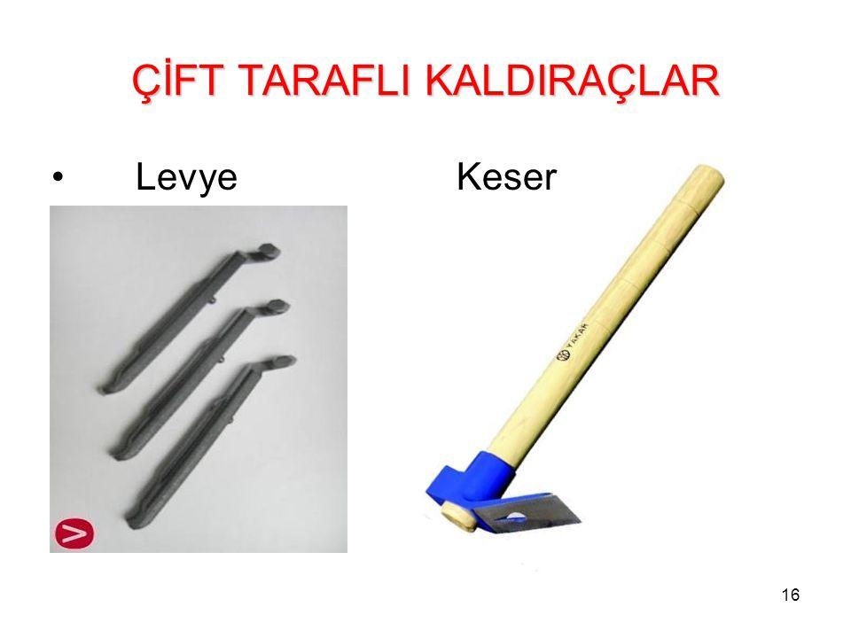 16 ÇİFT TARAFLI KALDIRAÇLAR Levye Keser
