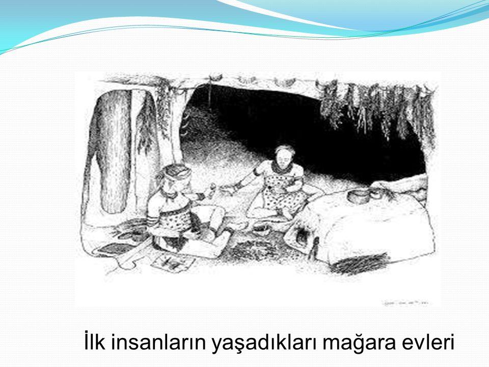 İlk insanların yaşadıkları toprağa gömülü evler