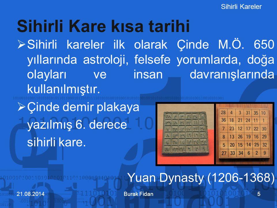 Sihirli Kareler Burak Fidan3603.02.2012 AB2012'de düzenleyici ve emeği geçen herkese, Sayın Doç.