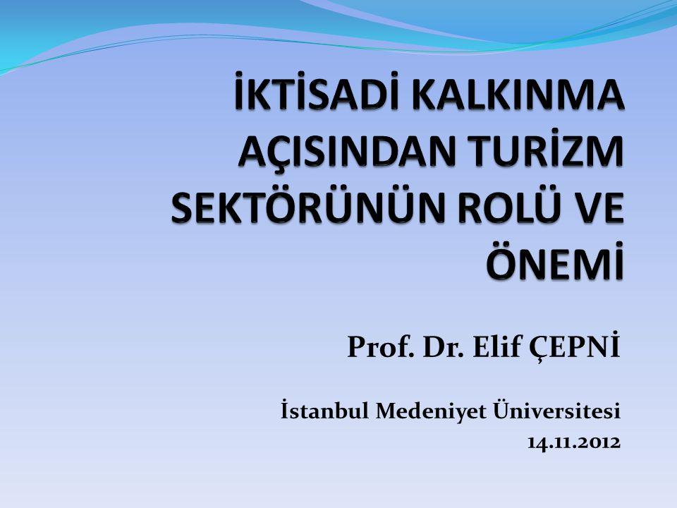Prof. Dr. Elif ÇEPNİ İstanbul Medeniyet Üniversitesi 14.11.2012