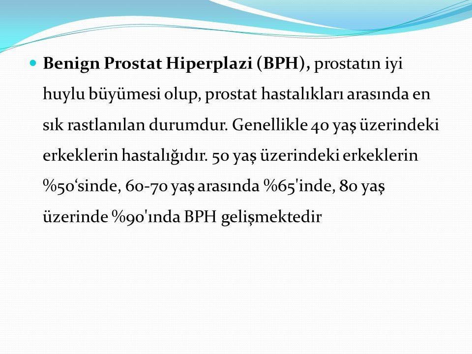 Benign Prostat Hiperplazi (BPH), prostatın iyi huylu büyümesi olup, prostat hastalıkları arasında en sık rastlanılan durumdur. Genellikle 40 yaş üzeri