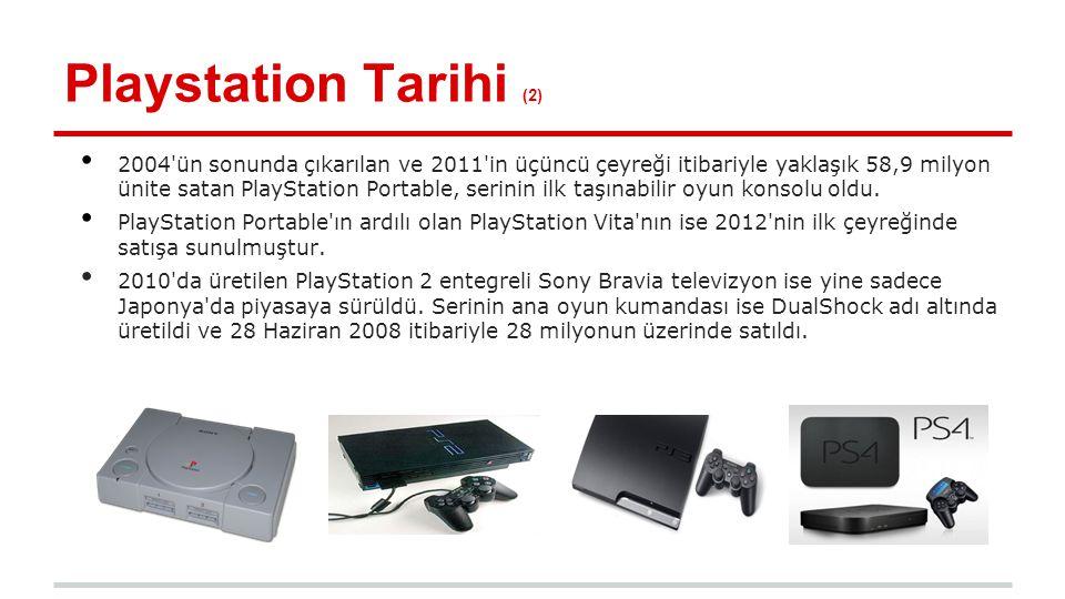 Sony PlayStation 4 (2) Yana yatık şekilde olan bir tasarımı vardır.