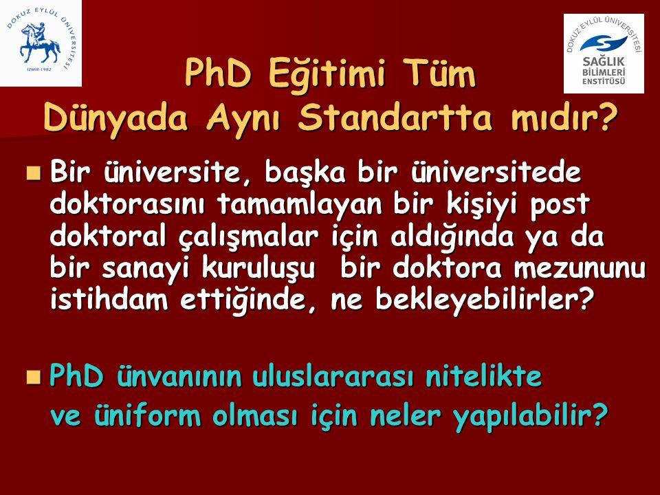 PhD Eğitimi Tüm Dünyada Aynı Standartta mıdır? Bir üniversite, başka bir üniversitede doktorasını tamamlayan bir kişiyi post doktoral çalışmalar için