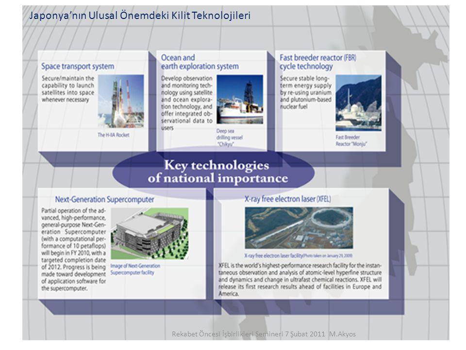29 Japonya'nın Ulusal Önemdeki Kilit Teknolojileri Rekabet Öncesi İşbirlikleri Semineri 7 Şubat 2011 M.Akyos