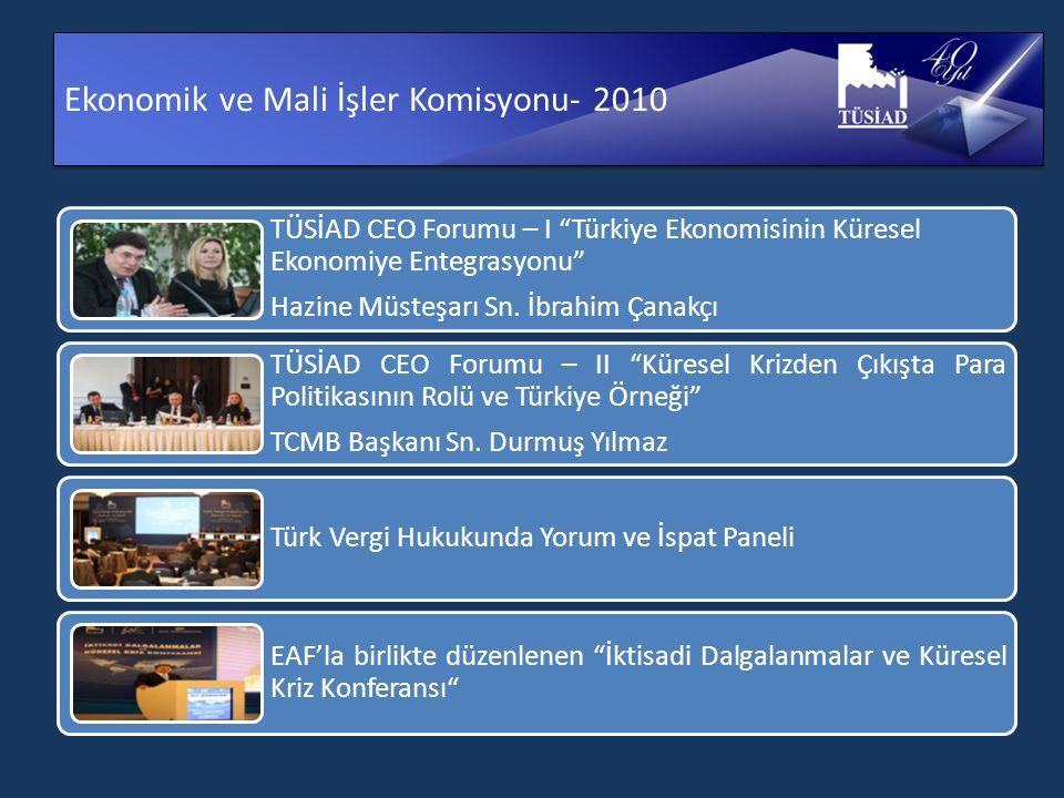 Ekonomik ve Mali İşler Komisyonu- 2010 TÜSİAD CEO Forumu – I Türkiye Ekonomisinin Küresel Ekonomiye Entegrasyonu Hazine Müsteşarı Sn.
