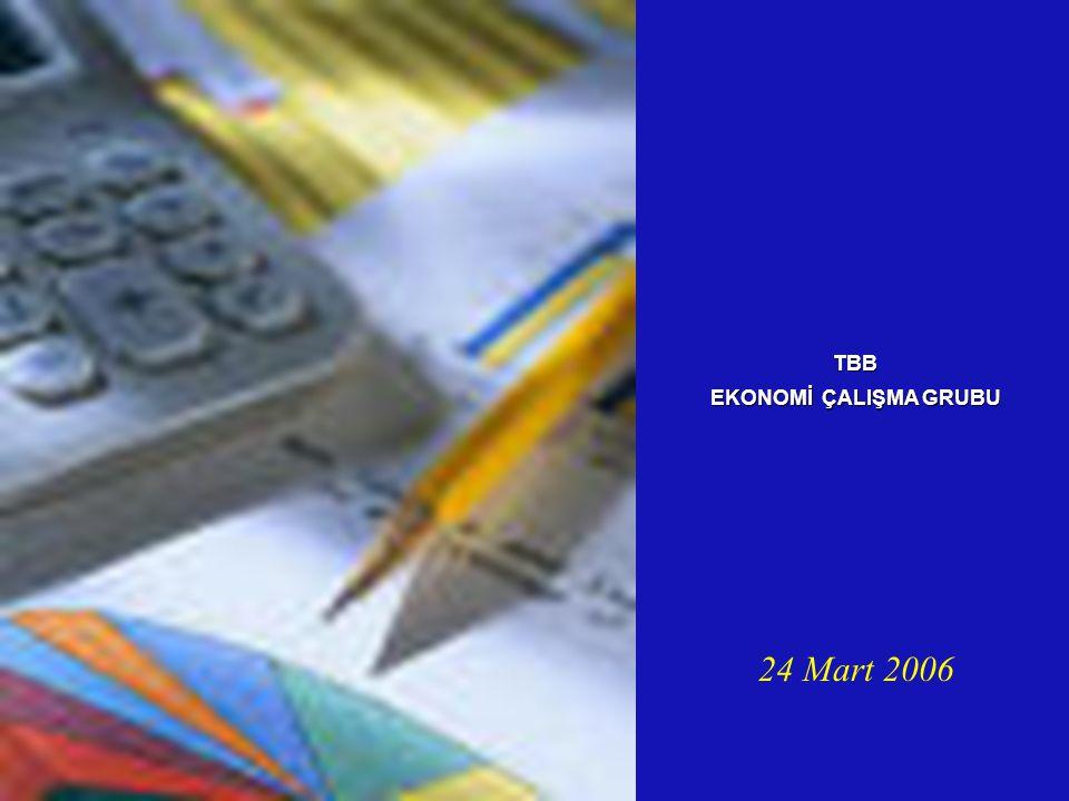 24 Mart 2006 TBB EKONOMİ ÇALIŞMA GRUBU