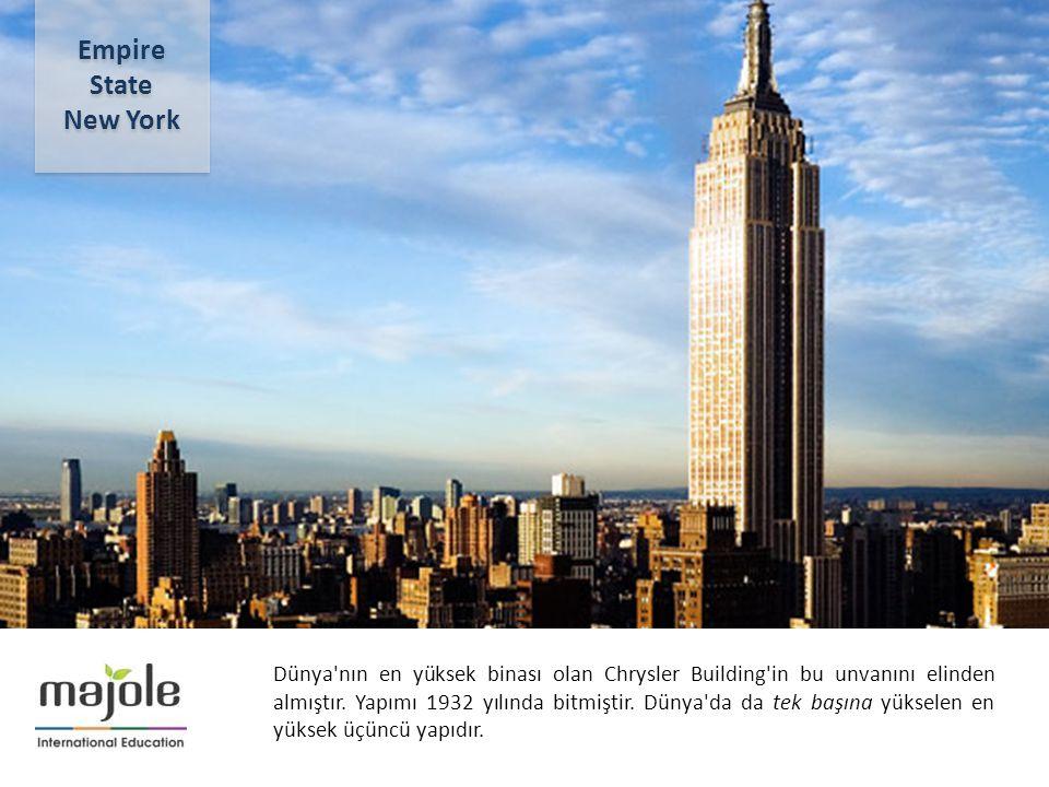 2- 10 Aralık 2012 Dünya'nın en yüksek binası olan Chrysler Building'in bu unvanını elinden almıştır. Yapımı 1932 yılında bitmiştir. Dünya'da da tek ba