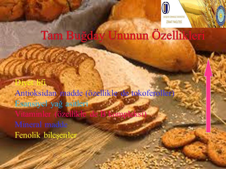 Diyet lifi Antioksidan madde (özellikle de tokoferoller) Esansiyel yağ asitleri Vitaminler (özellikle de B kompleksi) Mineral madde Fenolik bileşenler