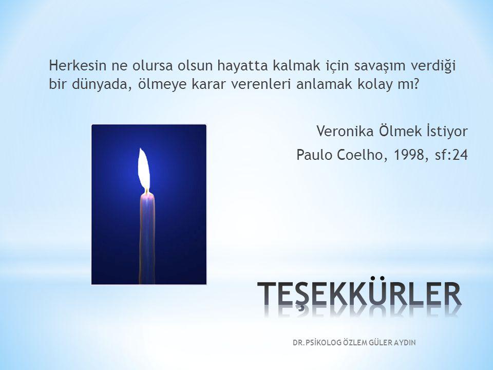Herkesin ne olursa olsun hayatta kalmak için savaşım verdiği bir dünyada, ölmeye karar verenleri anlamak kolay mı? Veronika Ölmek İstiyor Paulo Coelho
