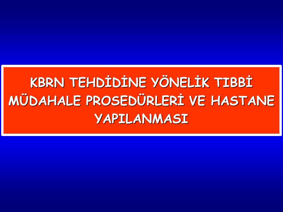 32 Hastane tıbbi KBRN Müdahale Ekip Komutanı; a.