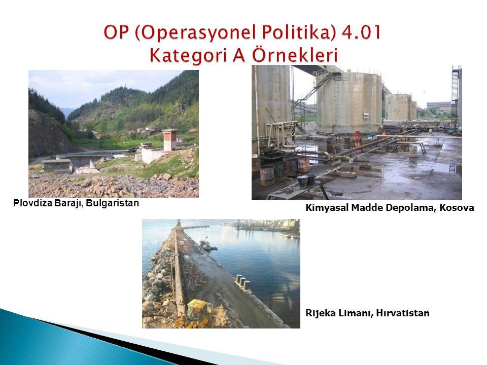 Plovdiza Barajı, Bulgaristan Kimyasal Madde Depolama, Kosova Rijeka Limanı, Hırvatistan