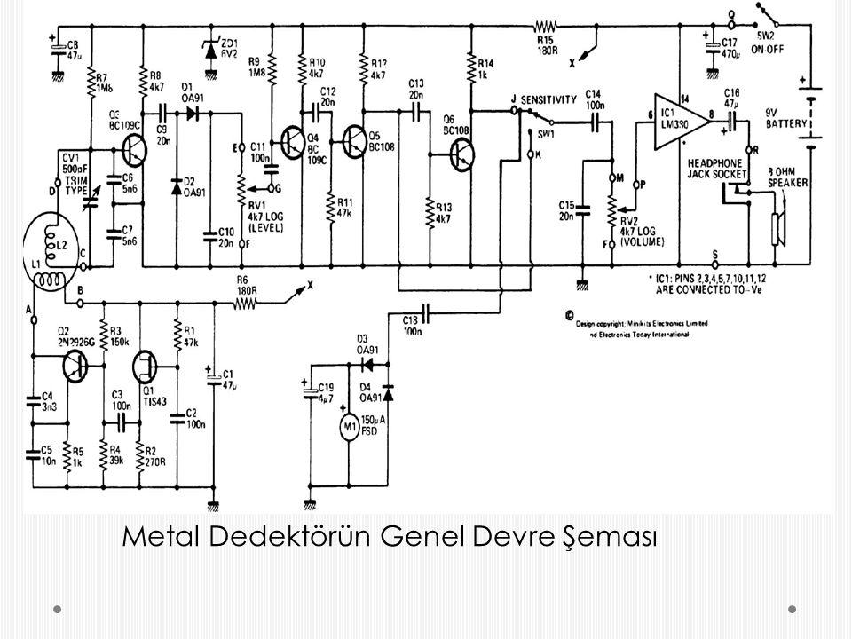 Metal Dedektörün Genel Devre Şeması