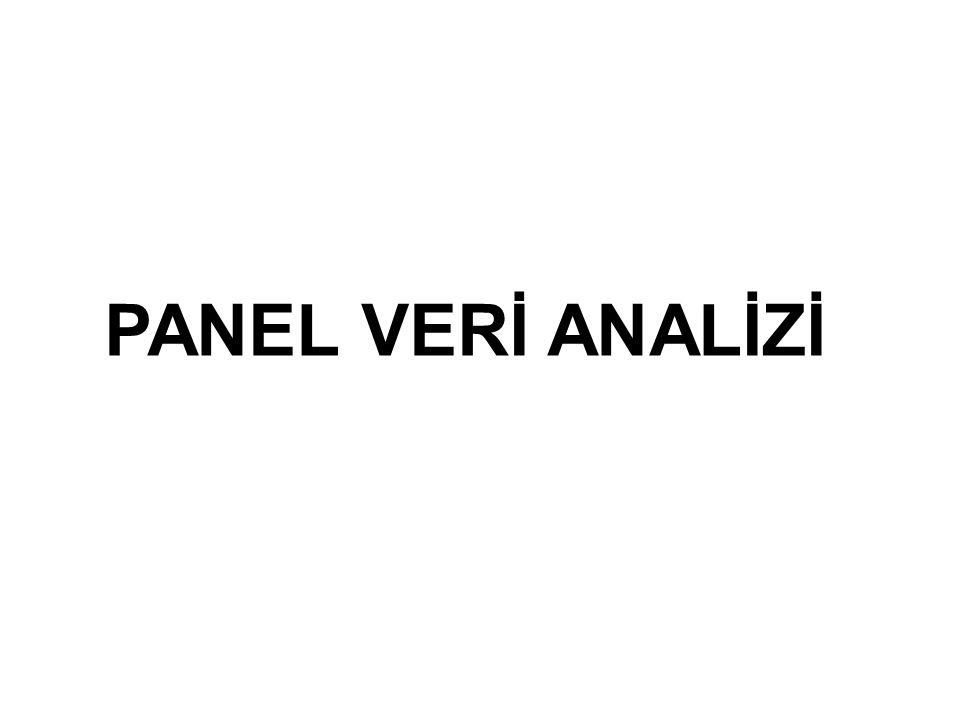 PANEL VERİ ANALİZİ